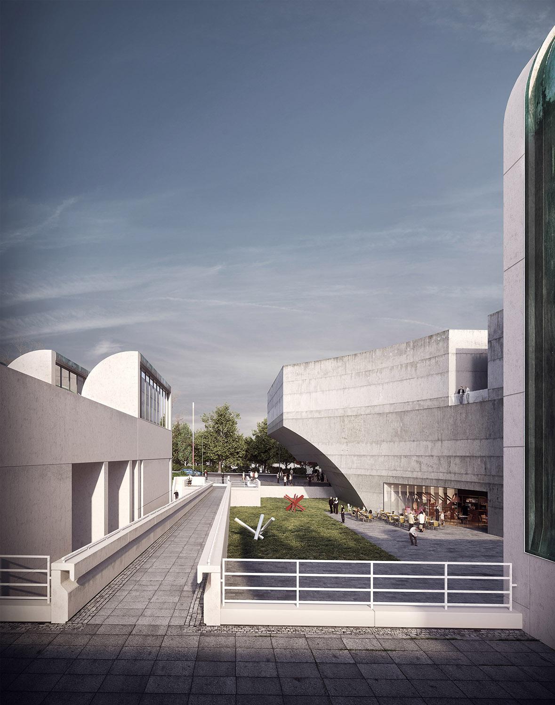 Nuevo museo de la bauhaus bakpak architects for Horario bauhaus zaragoza