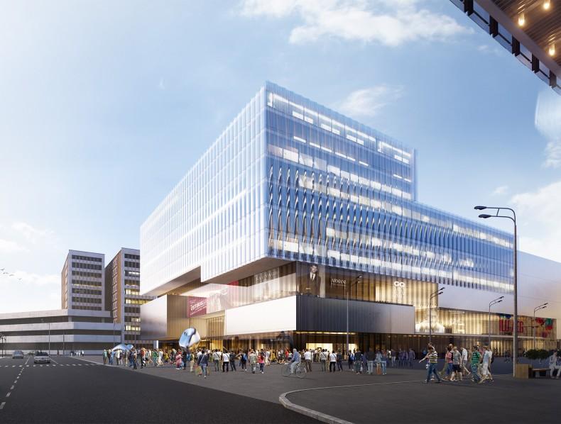 """Hybrid building """"Tallinna Kaubamaja""""."""