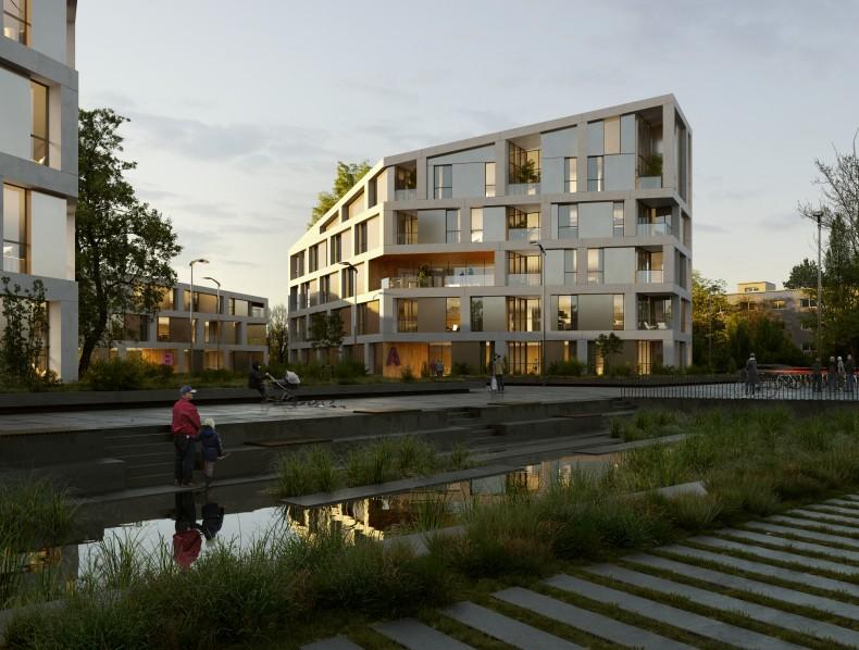 Ordenación arquitectónica y urbanística área residencial en Karlsruhe (Alemania)