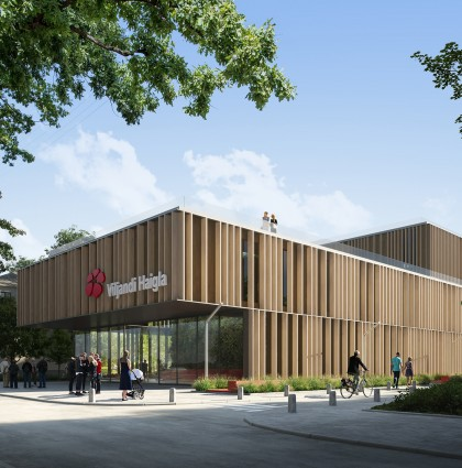 The construction contract for the new Viljandi Hospital and health center is signed